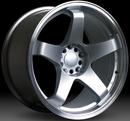 "Nissan 350z fitment Rota GTR Wheels - 19"" - Silver with polished lip"